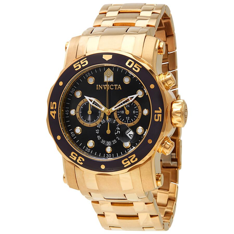 84261465545 Invicta Pro Diver Chronograph Black Dial Men s Watch 23650 - Pro ...