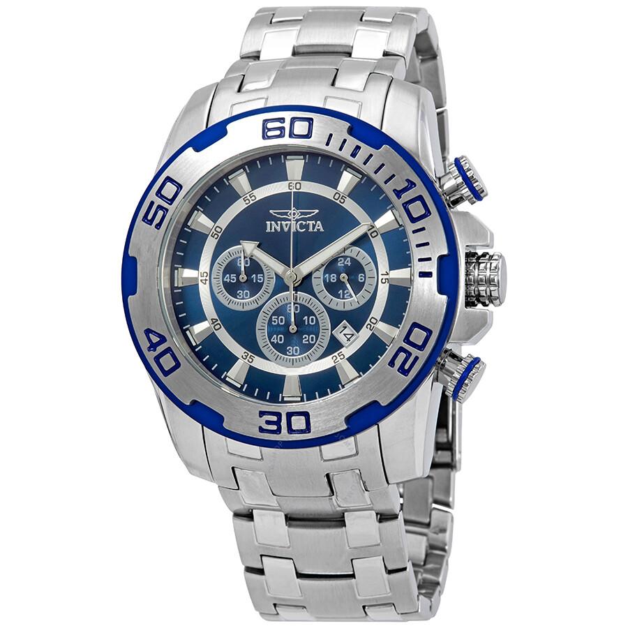 5153808b39f Invicta Pro Diver Chronograph Blue Dial Men s Watch 22319 - Pro ...