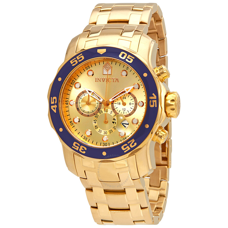 3afed468ae6 Invicta Pro Diver Chronograph Champagne Dial Men s Watch 80068 - Pro ...