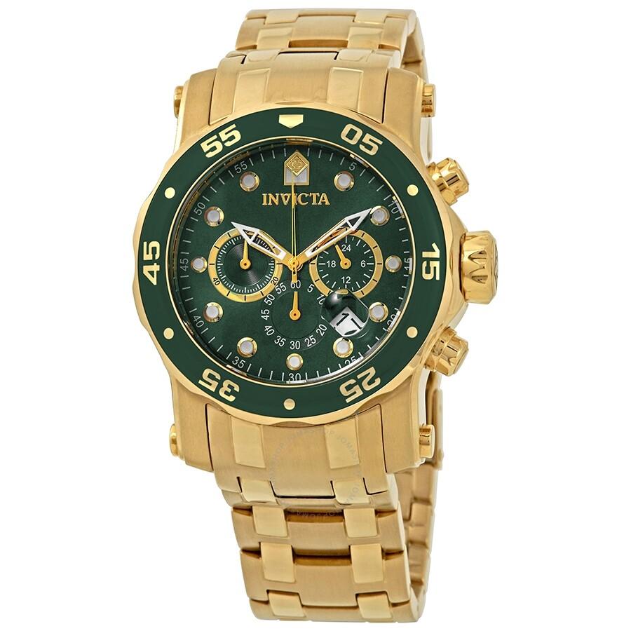 c63aebbcc08 Invicta Pro Diver Chronograph Green Dial Men s Watch 23653 - Pro ...