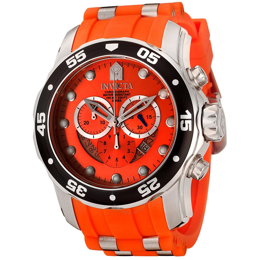 Invicta pro diver chronograph orange men 39 s watch 6980 - Orange dive watch ...