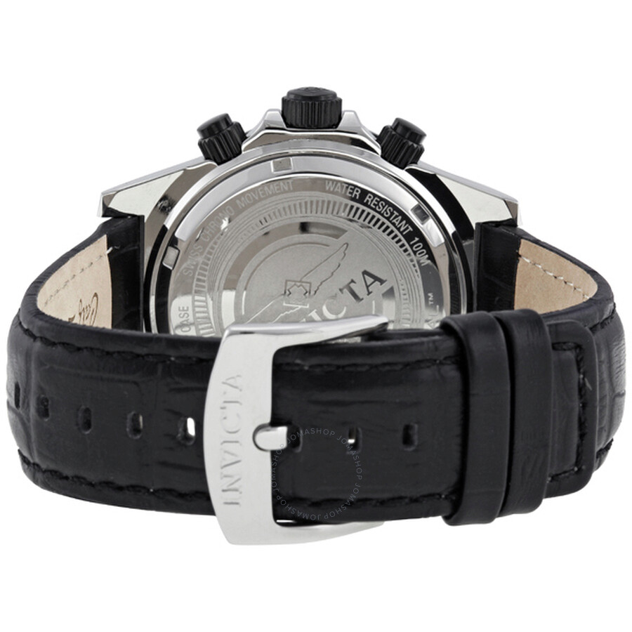 4c9c77a0b ... Invicta Pro Diver Elite Chronograph White Dial Black Leather Band Men's  Watch 1720 ...