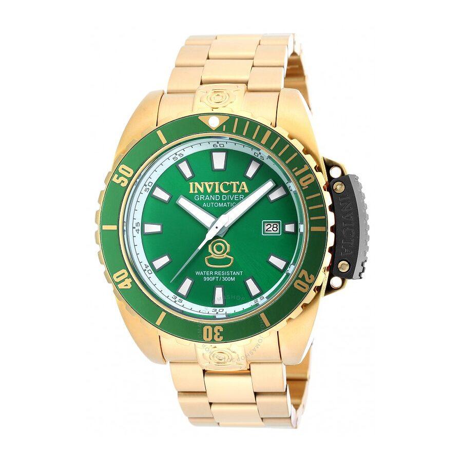 Invicta Pro Diver Automatic Green Dial Gold-tone Men s Watch Item No. 19869 6860f4160