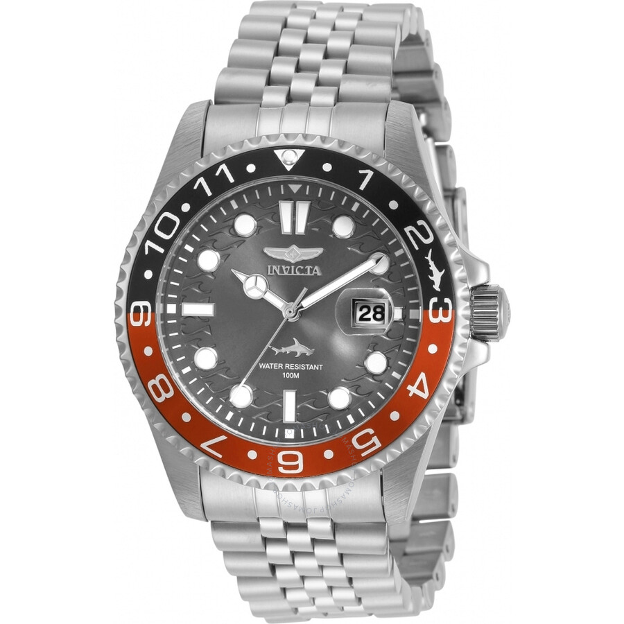 Invicta Pro Diver Quartz Charcoal Dial Coke Bezel Men