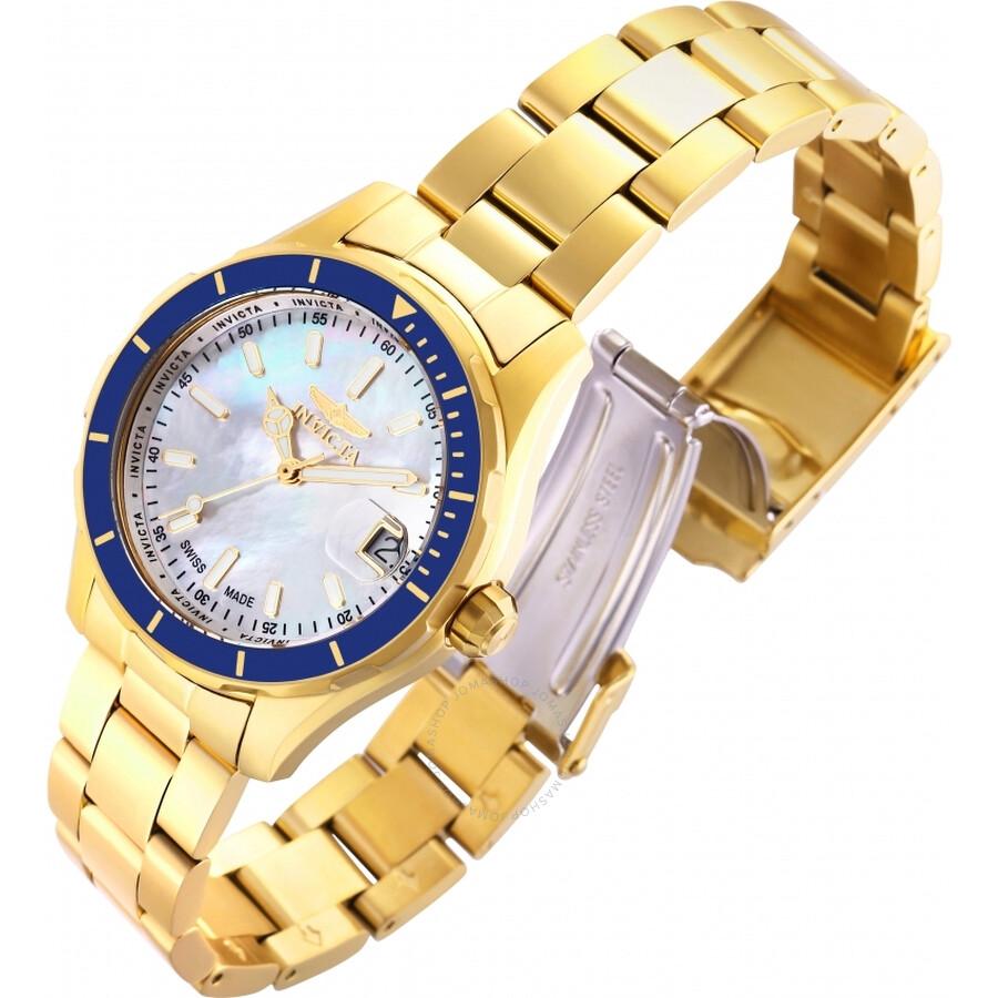 Pro Diver Quartz White Mother of Pearl Dial Ladies Watch 28646