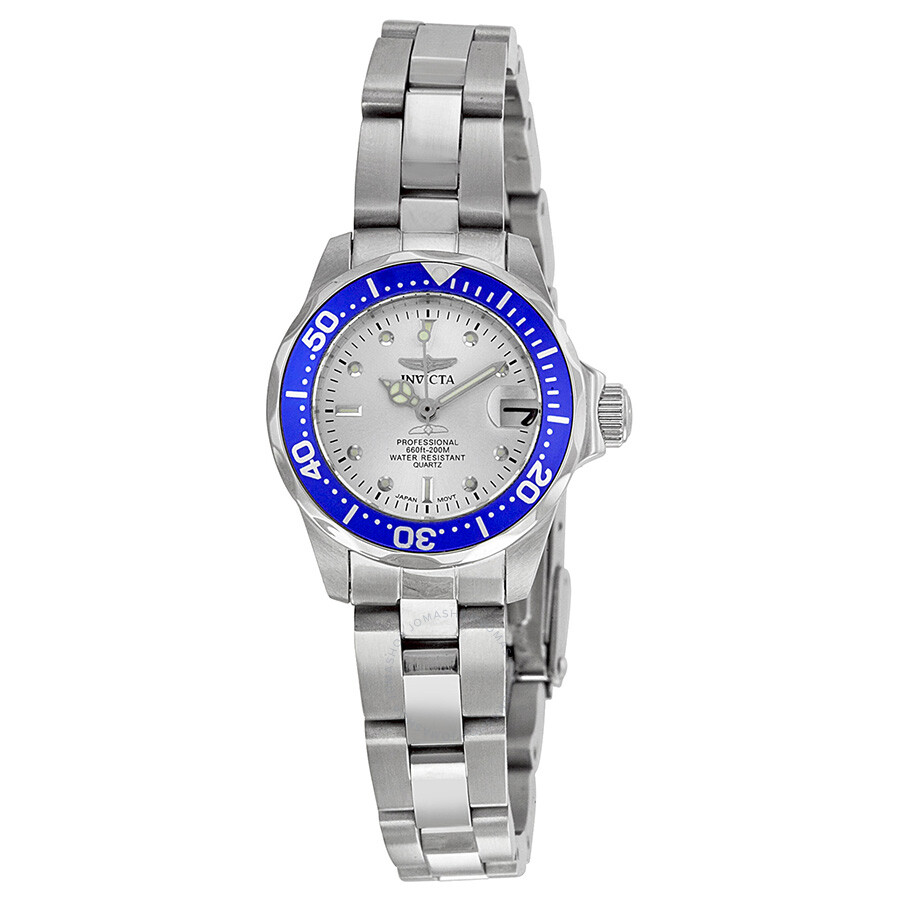 invicta pro diver silver stainless steel