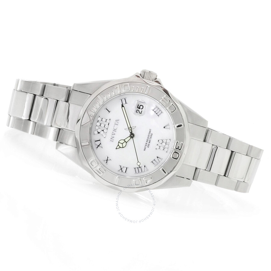 Invicta Pro Diver White Dial Stainless Steel Ladies Watch Item No. 14350 26c68c0d1a