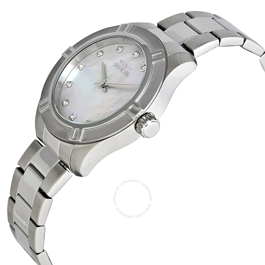 Invicta pro diver white mother of pearl dial men 39 s watch 18331 invicta watches jomashop for Mother of pearl dial watch