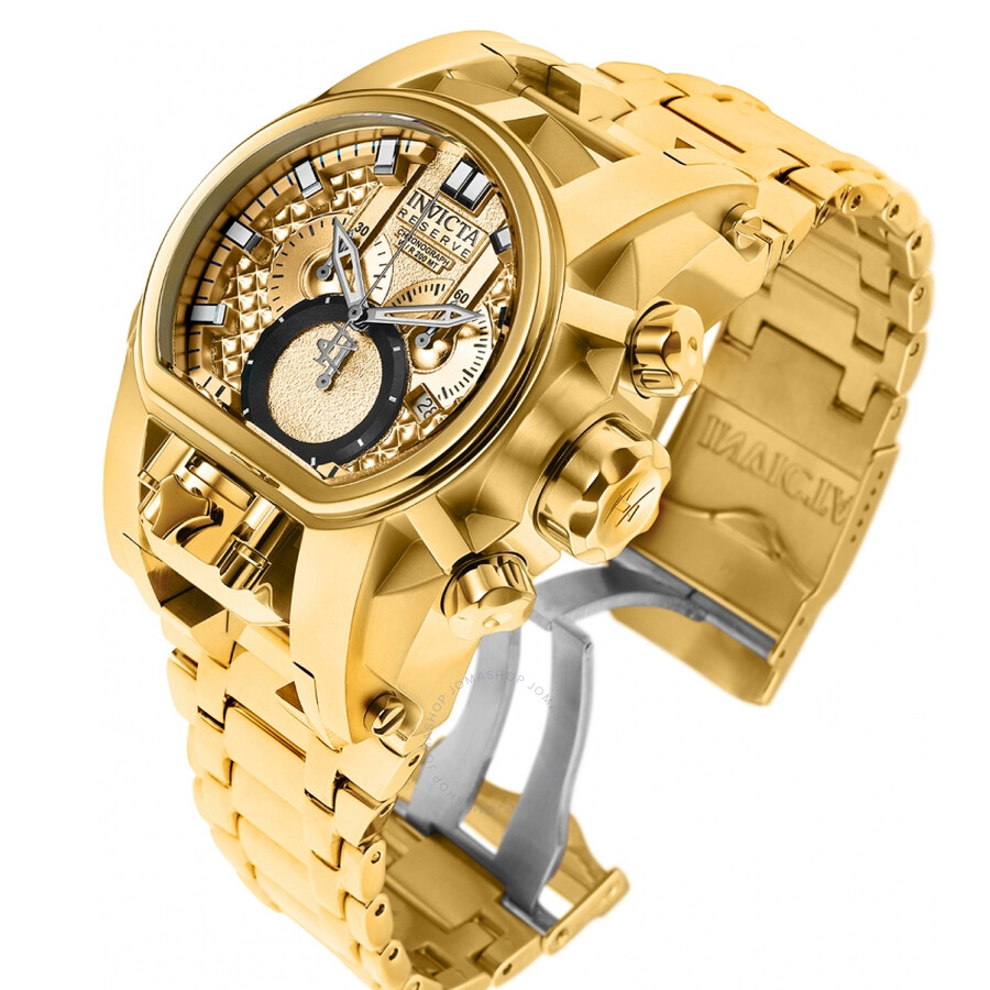 66b493ef8e7b Invicta Reserve Chronograph Gold Dial Men s Watch 25210 - Reserve ...