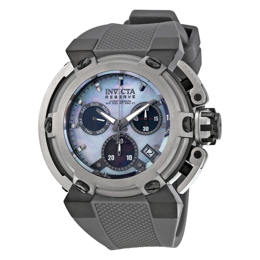 invicta reserve chronograph platinum of pearl