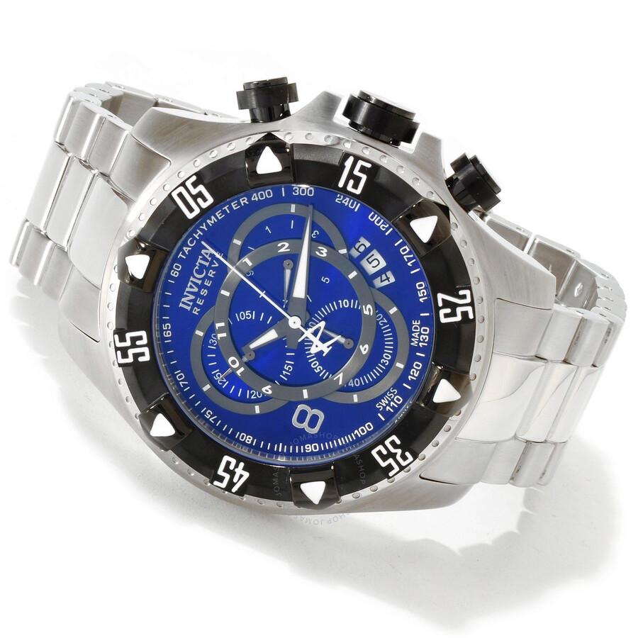 invicta reserve excursion blue chronograph s