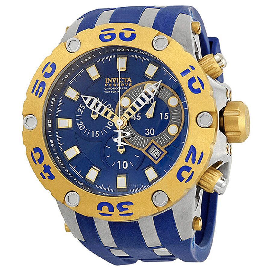 ca40f9d1fdc Invicta Reserve Specialty Two Tone Case Blue Dial Chronograph Men's Watch  0909 ...