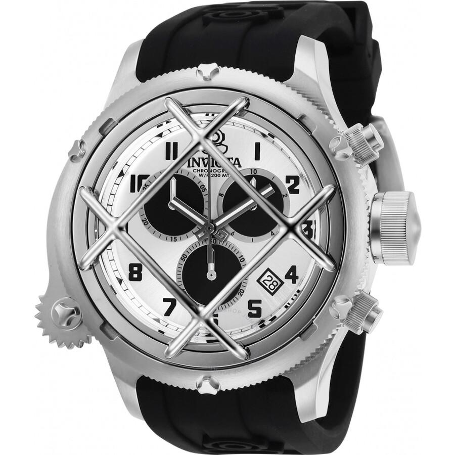 39bb88f58 Invicta Invicta Russian Diver Chronograph Quartz Silver Dial Men's Watch  27722 Item No. Invicta