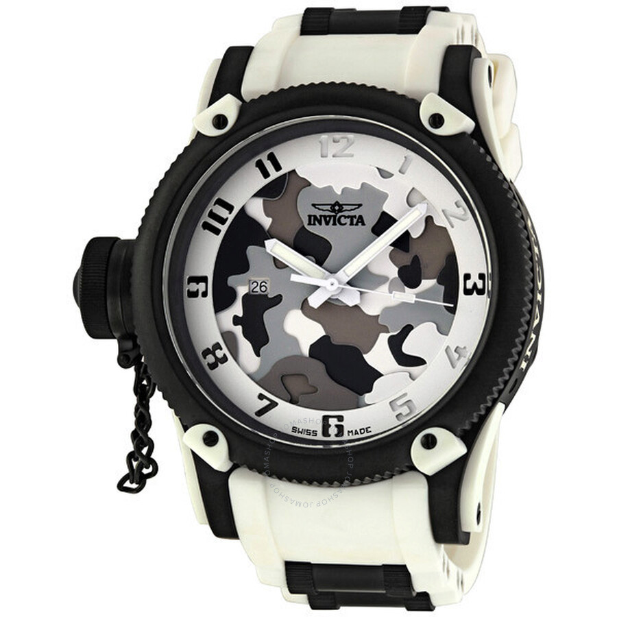 bfc3ffbe2ea Invicta Russian Diver Special Ops White Siberian Tiger Men s Watch 1195 ...