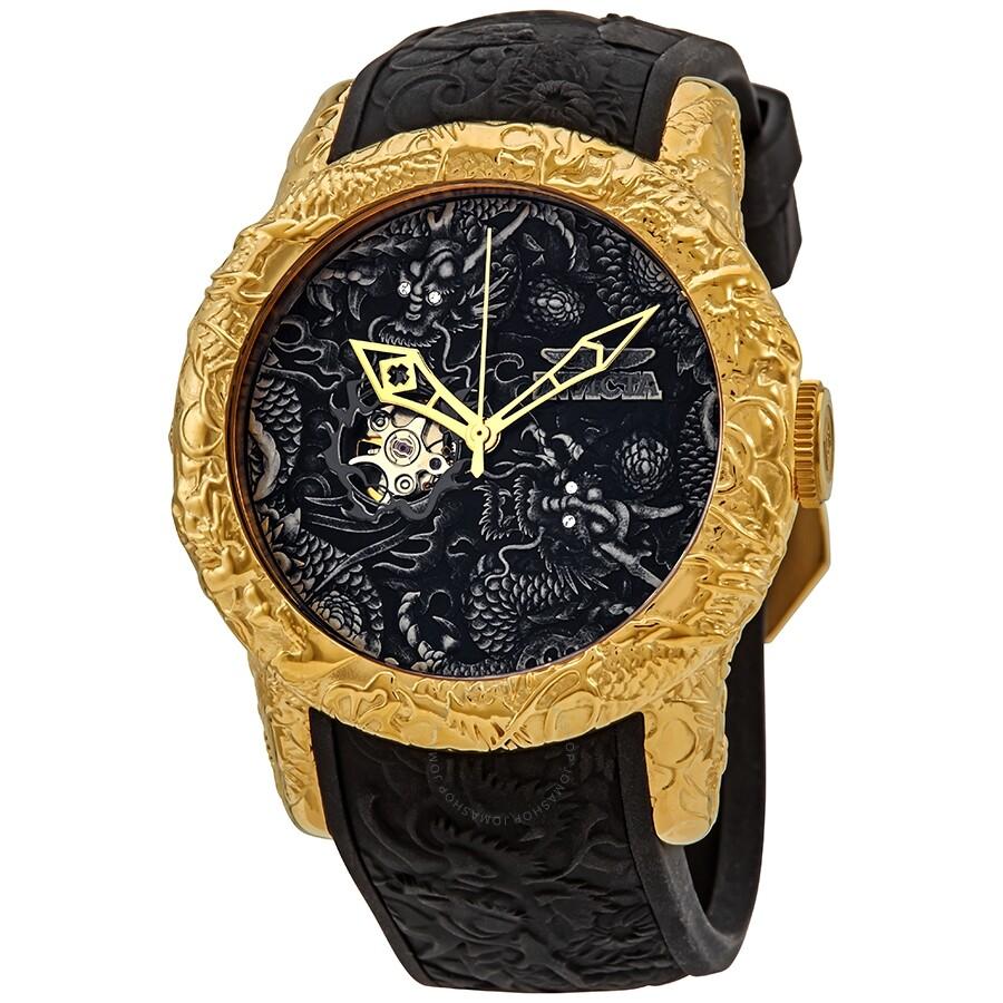 4f04f6ec7 Invicta S1 Rally Dragon Automatic Black Dial Men's Watch 25082 - S1 ...