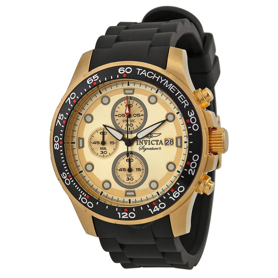 invicta signature ii chronograph gold tone s