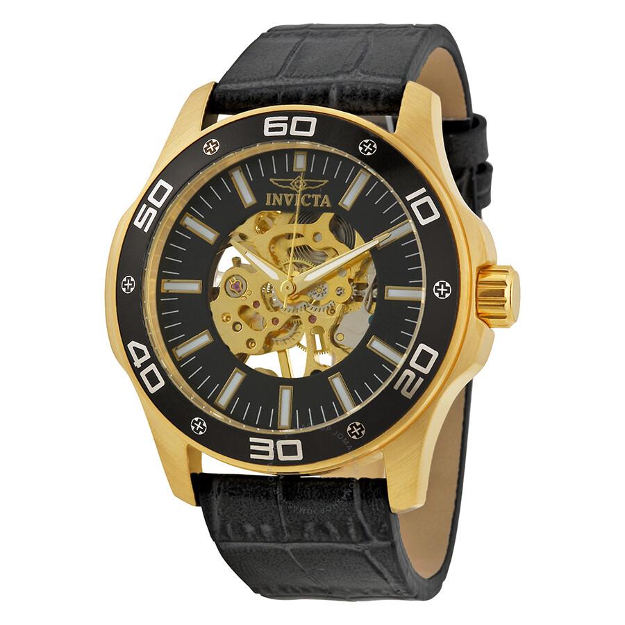 93d905020 Invicta 12957 Jason Taylor Black Diamond Automatic Skeleton Watch For Men