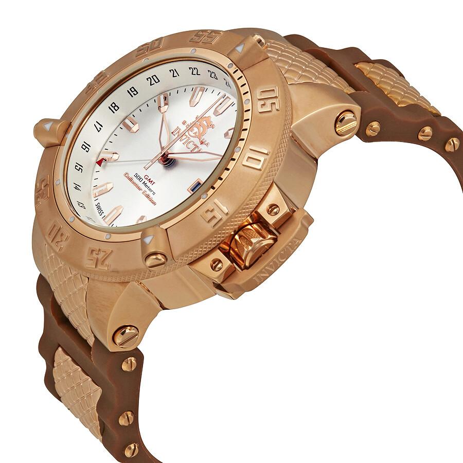 Invicta subaqua noma iii chronograph transparent dial men's watch.