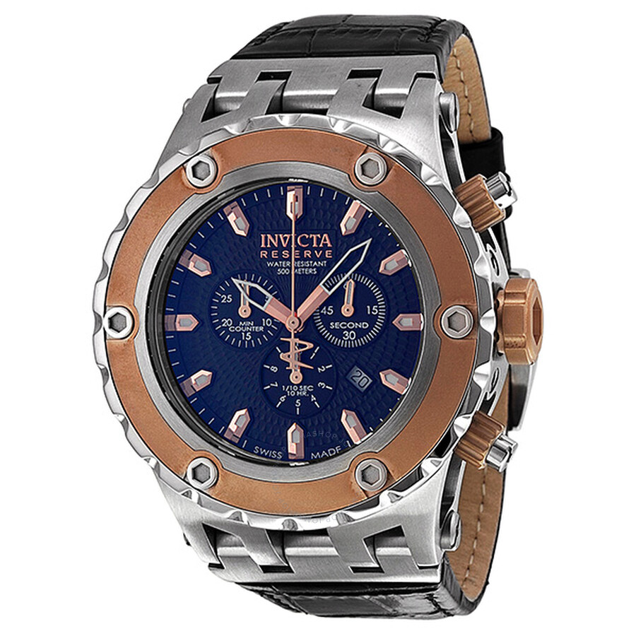 d17d198ac Invicta Subaqua Reserve Chronograph Blue Dial Rose Gold-tone Men's Watch  10080 ...