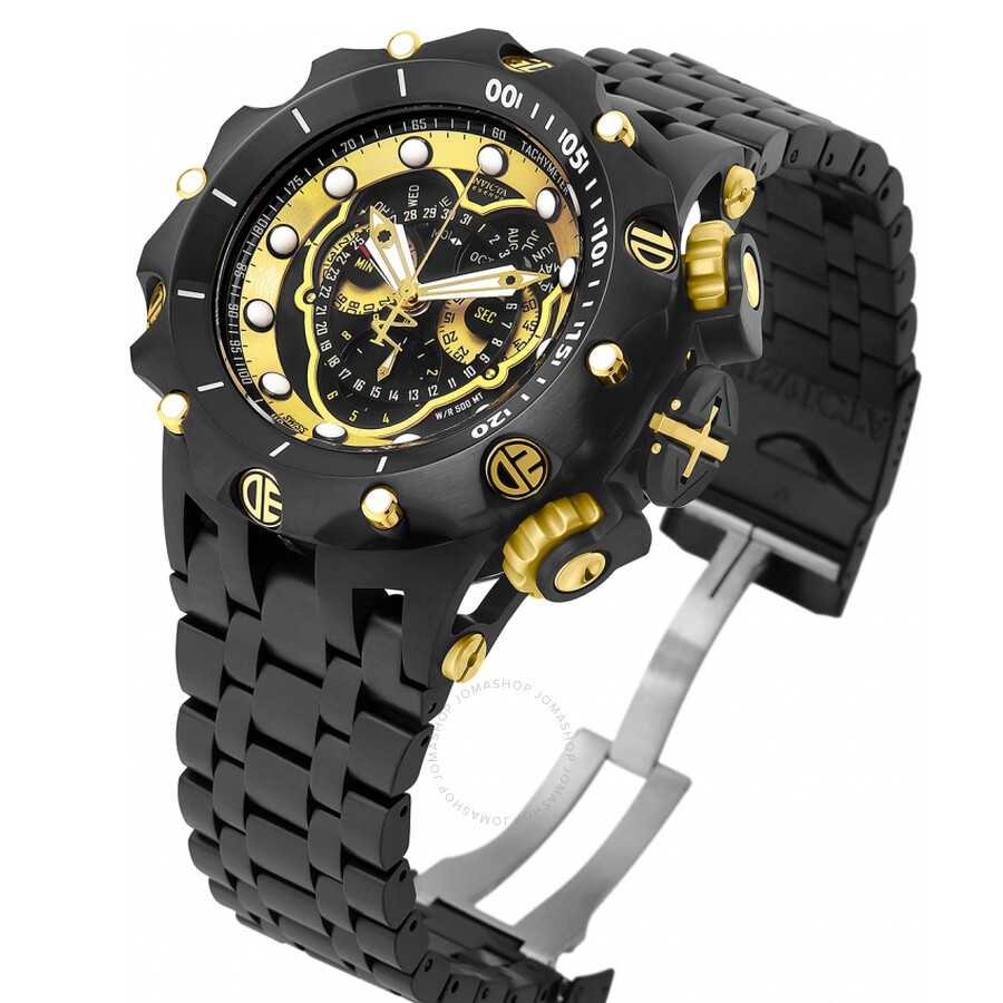 727ab333c8f ... Invicta Venom Chronograph Black and Gold Dial Black Ion-plated Men's  Watch 20420