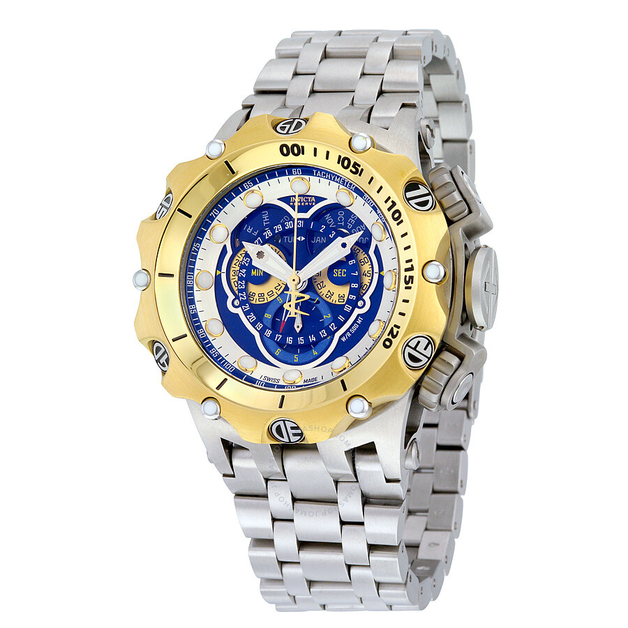 invicta venom chronograph blue dial stainless steel men 39 s. Black Bedroom Furniture Sets. Home Design Ideas