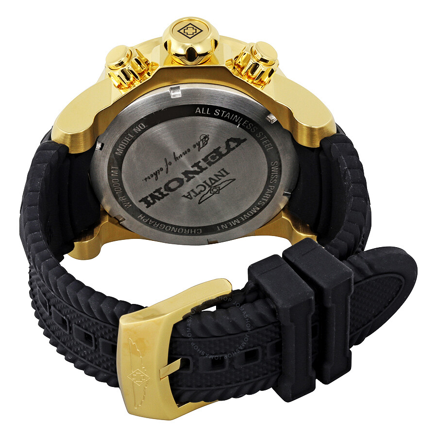 invicta venom chronograph gold and black black