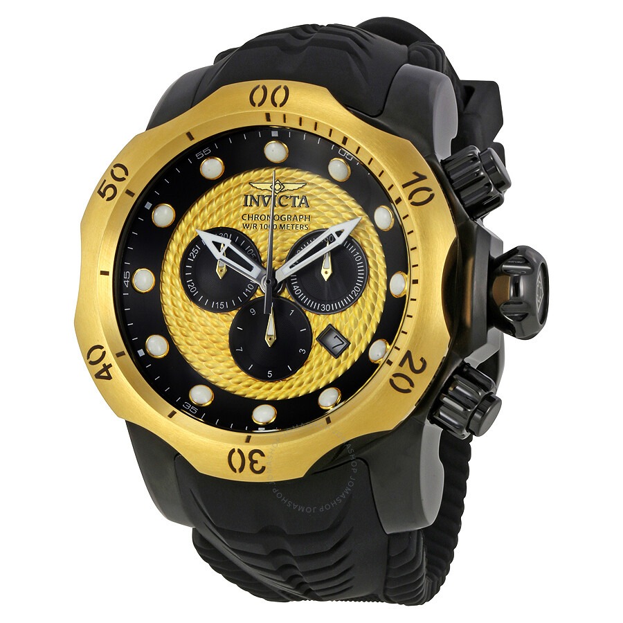 invicta venom chronograph gold and black s