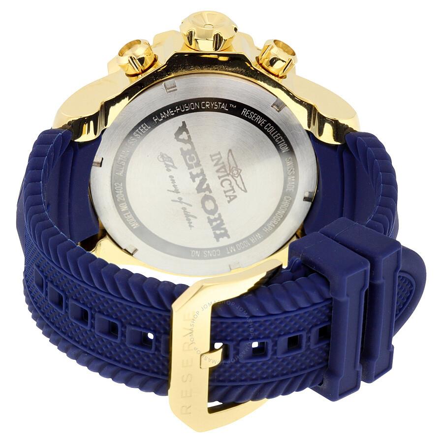 invicta venom chronopgraph blue and gold s