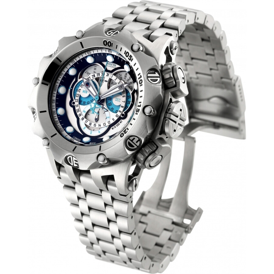 edc958e6838 ... Invicta Venom Hybrid Reserve Chronograph Silver and Black Dial  Stainless Steel Men's Watch 16803