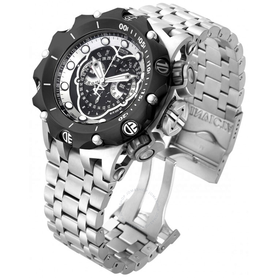 6e519bdf2f9 Invicta Venom Reserve Chronograph Black Dial Stainless Steel Men's Watch  16809 ...