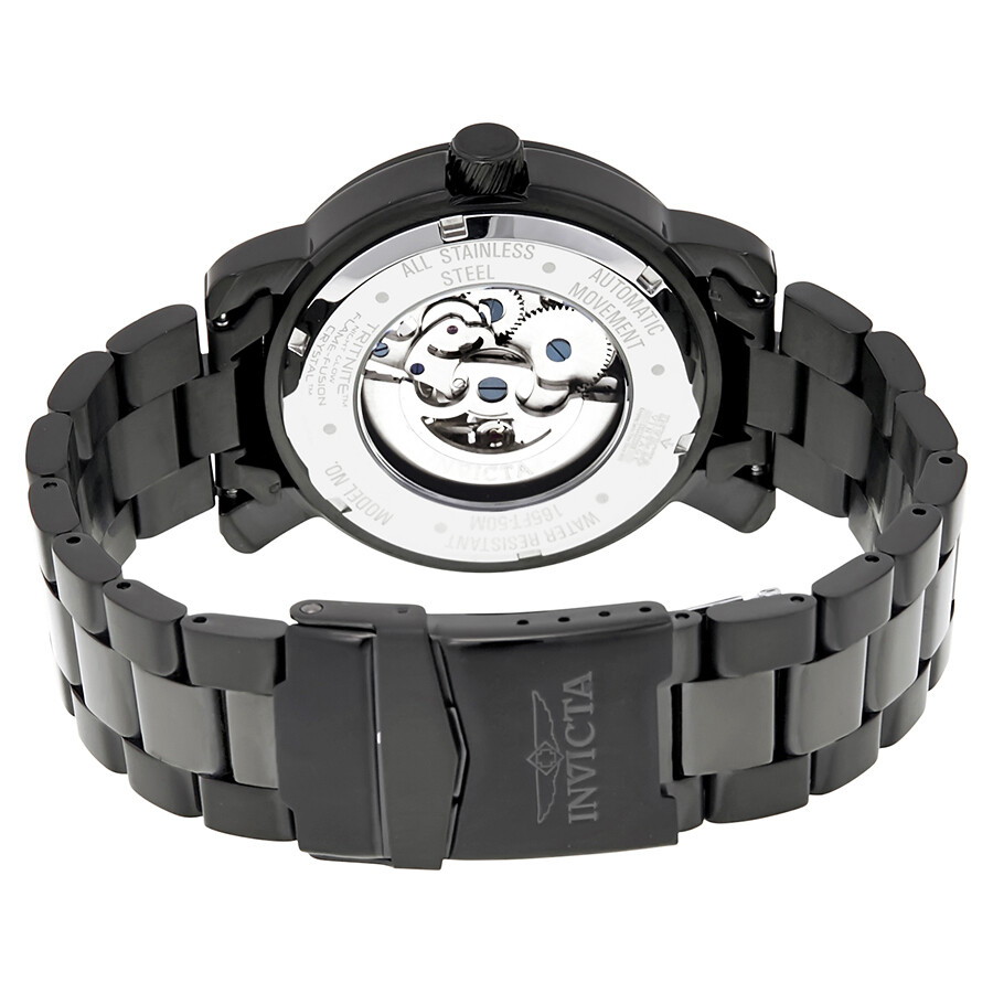 Invicta vintage objet d art automatic black dial men 39 s watch 22576 obje - Objet vintage occasion ...