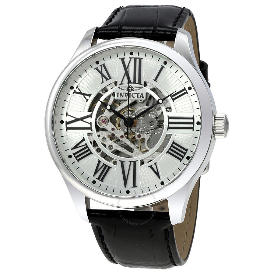 Invicta vintage objet d art automatic silver dial men 39 s watch 22566 obj - Objet vintage occasion ...
