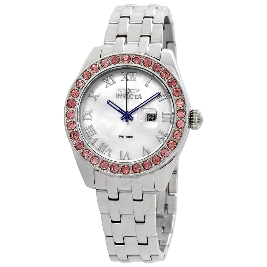 b81e84ad16f Invicta Wildflower Crystal Mother of Pearl Dial Ladies Interchangeable  Bezel Watch 23646 ...