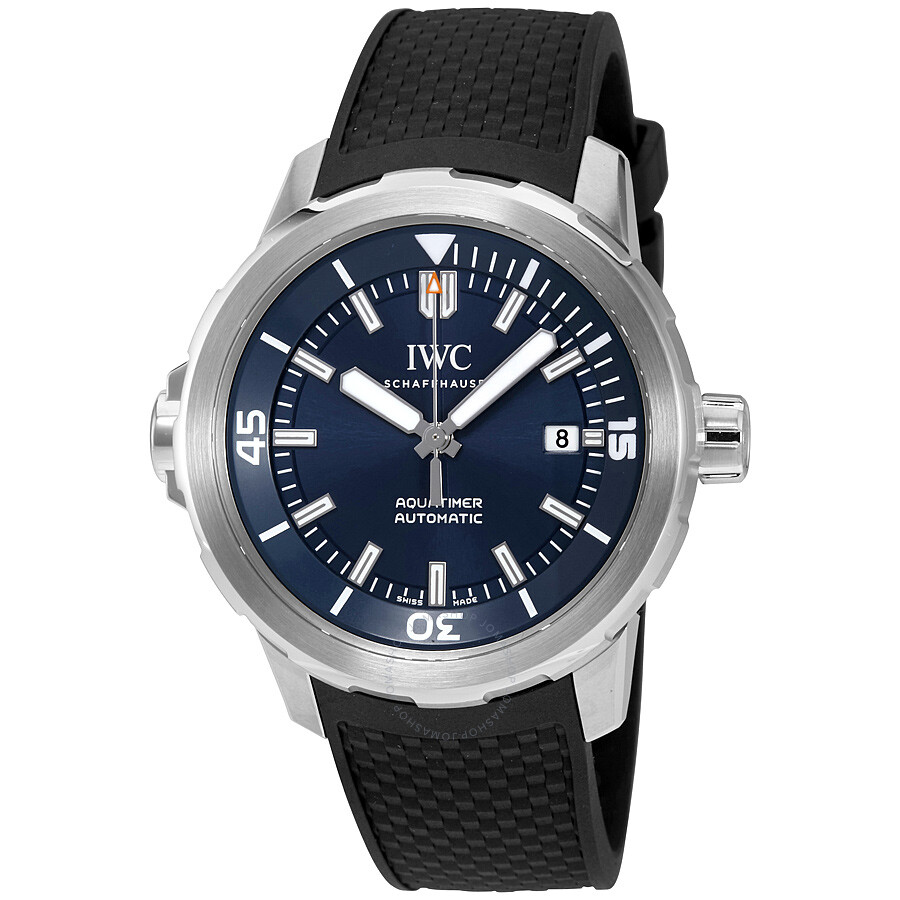 7d88495ad10e IWC Aquatimer Automatic Expedition Jacques-Yves Cousteau Blue Dial Men s  Watch