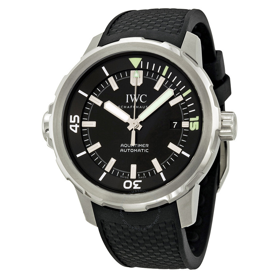 iwc aquatimer black dial black rubber men 39 s watch iw329001 aquatimer iwc watches jomashop