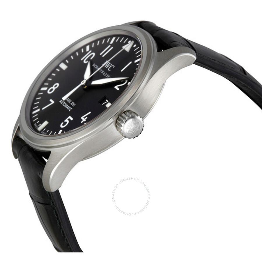 2c2380ab44b7 IWC Classic Pilot Mark XVI Steel Black Men s Watch 3255-01 - Pilot ...