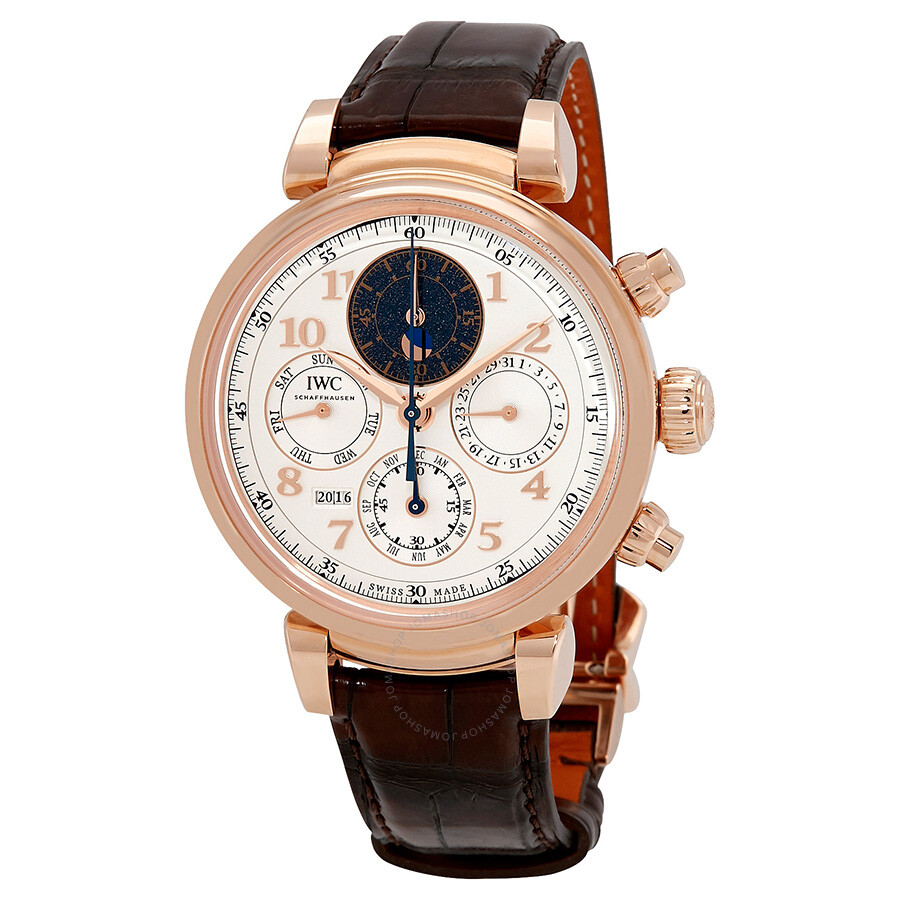 Perpetual Calendar Watch >> Iwc Da Vinci Silver Dial Automatic Men S Perpetual Calendar Watch