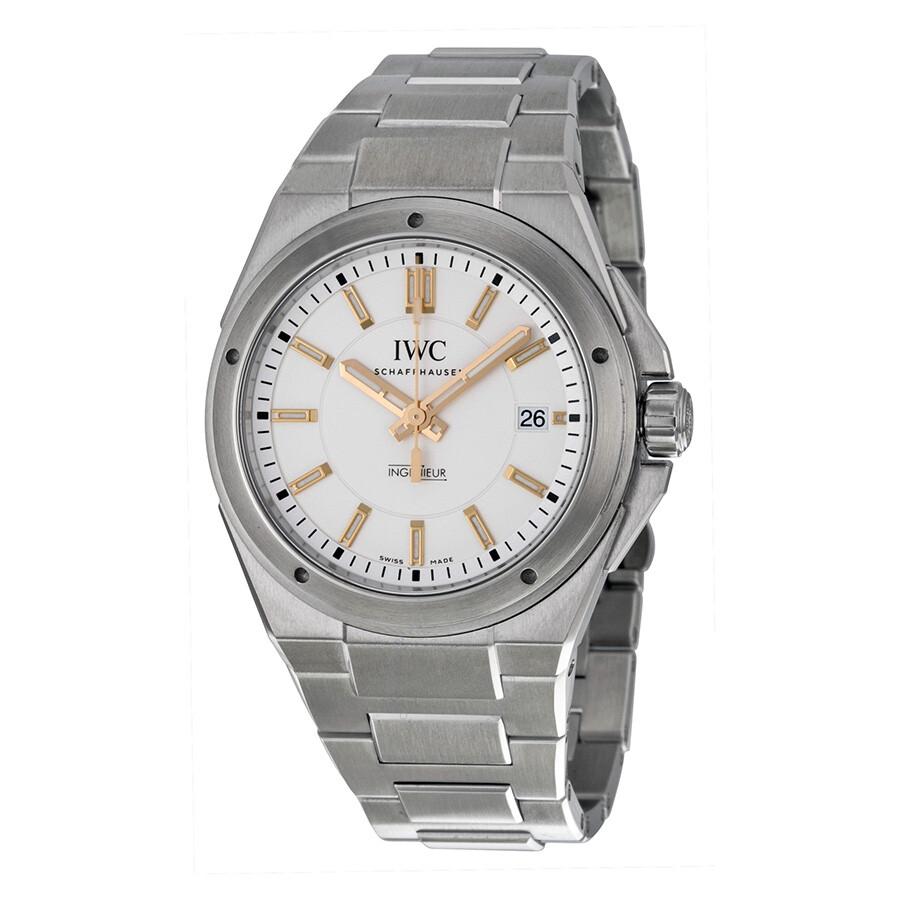 Iwc Ingenieur Automatic Silver Dial Steel Bracelet Men S Watch Iw323906