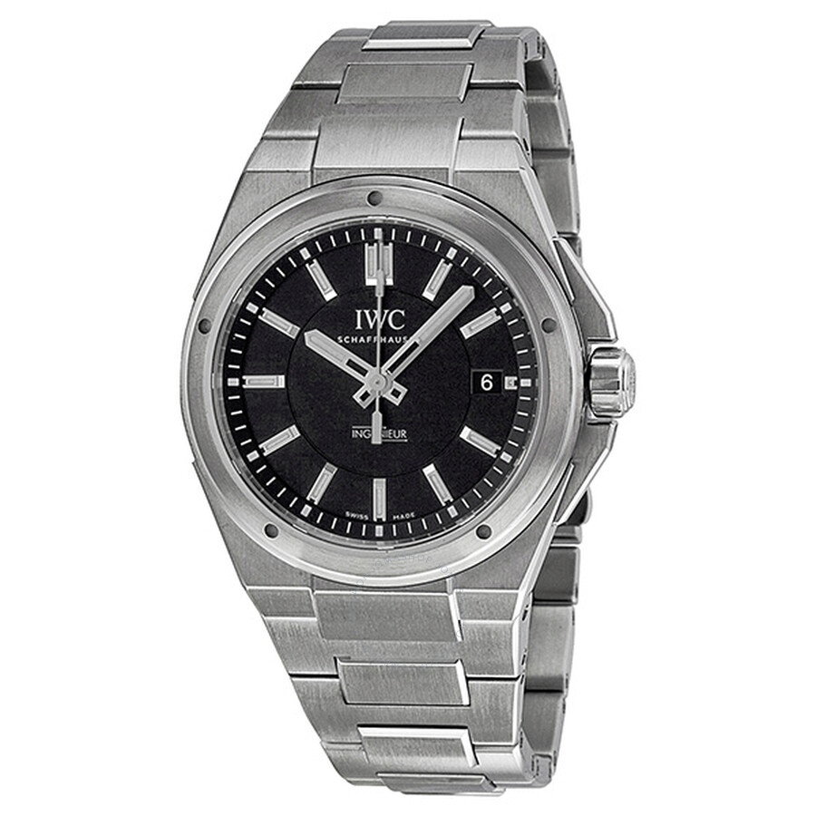 new product 34de4 f9c02 IWC Ingenieur Black Dial Stainless Steel Automatic Men's IW323902