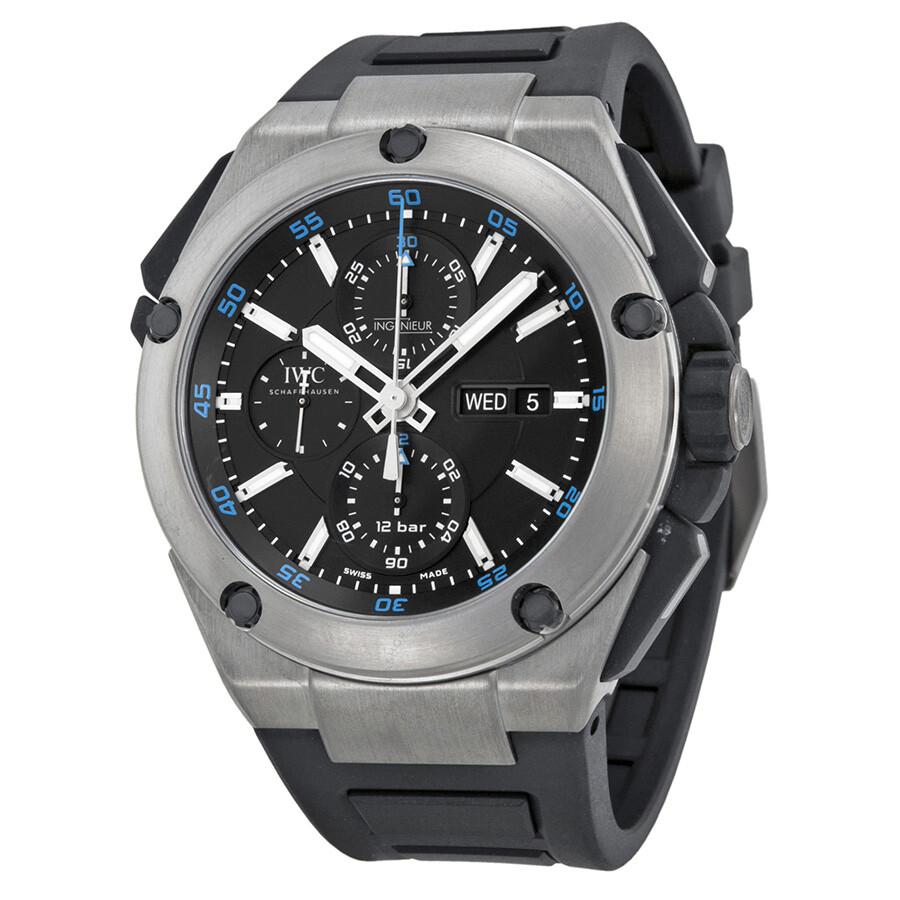 Titanium Automatic Ingenieur Chronograph 3l4aj5r Men's Watch Double Iwc UpLVqSMGz