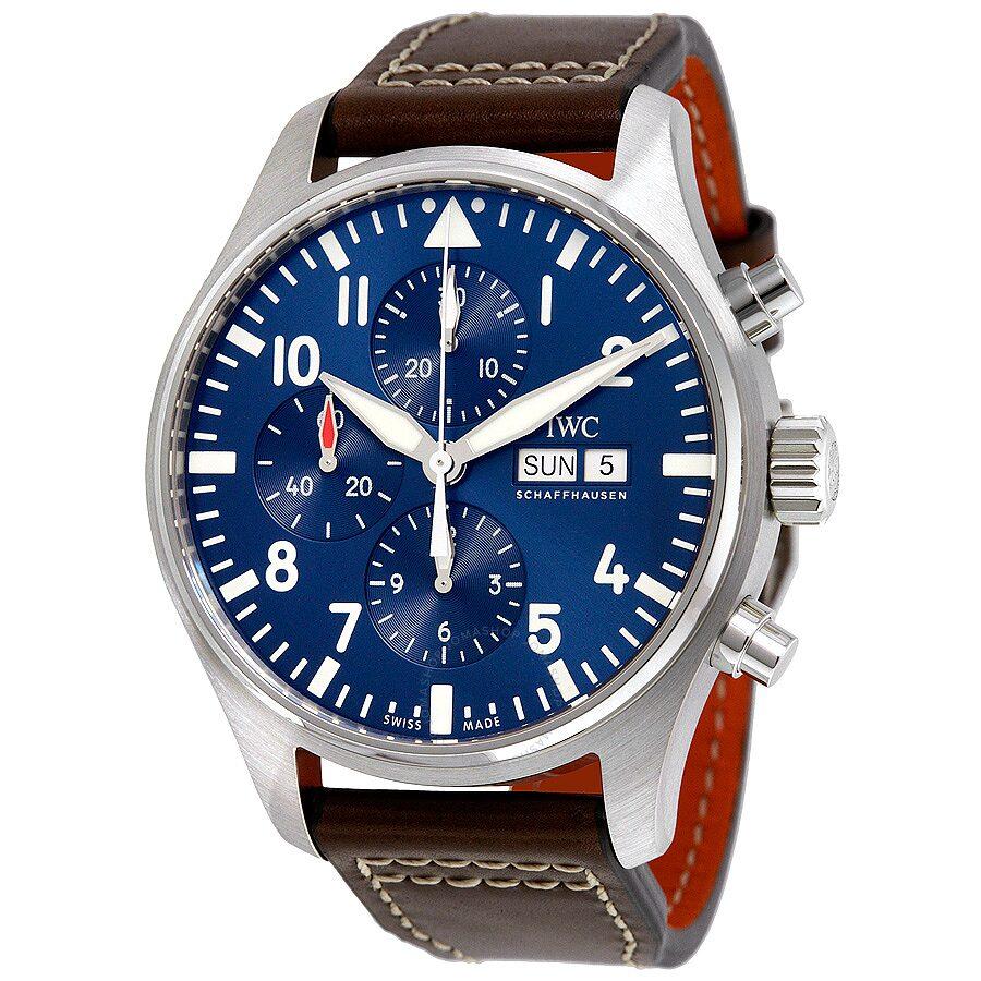 iwc pilot midnight automatic chronograph blue s