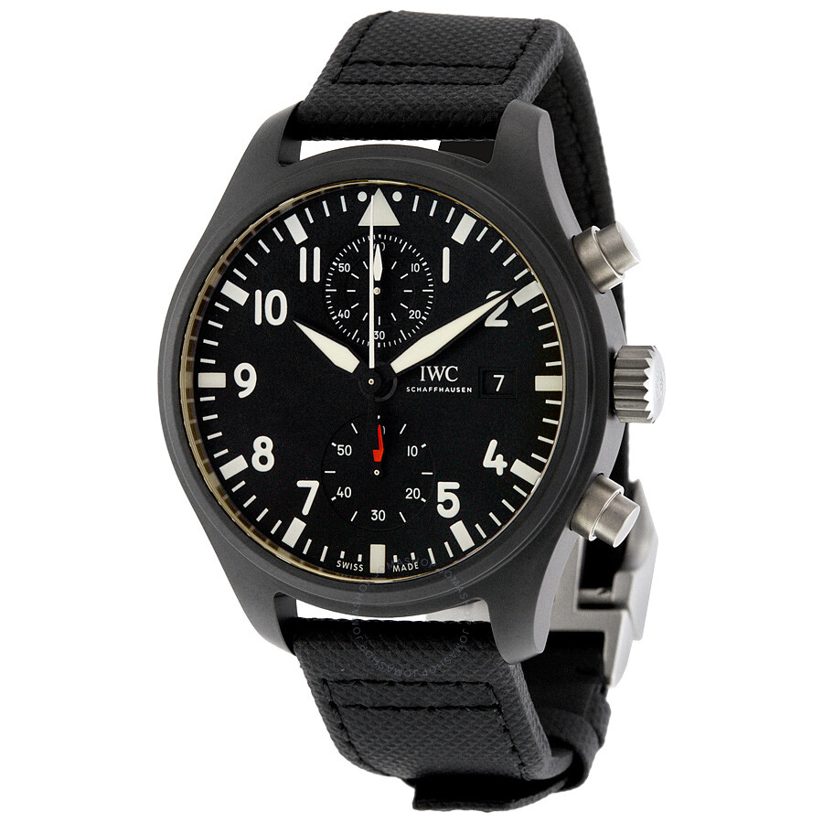 IWC Pilot's Top Gun Automatic Chronograph Men's Watch ...