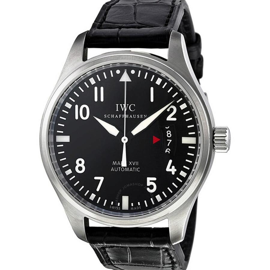 IWC Pilots Mark XVII Black Alligator Men's Watch IW326501 ...