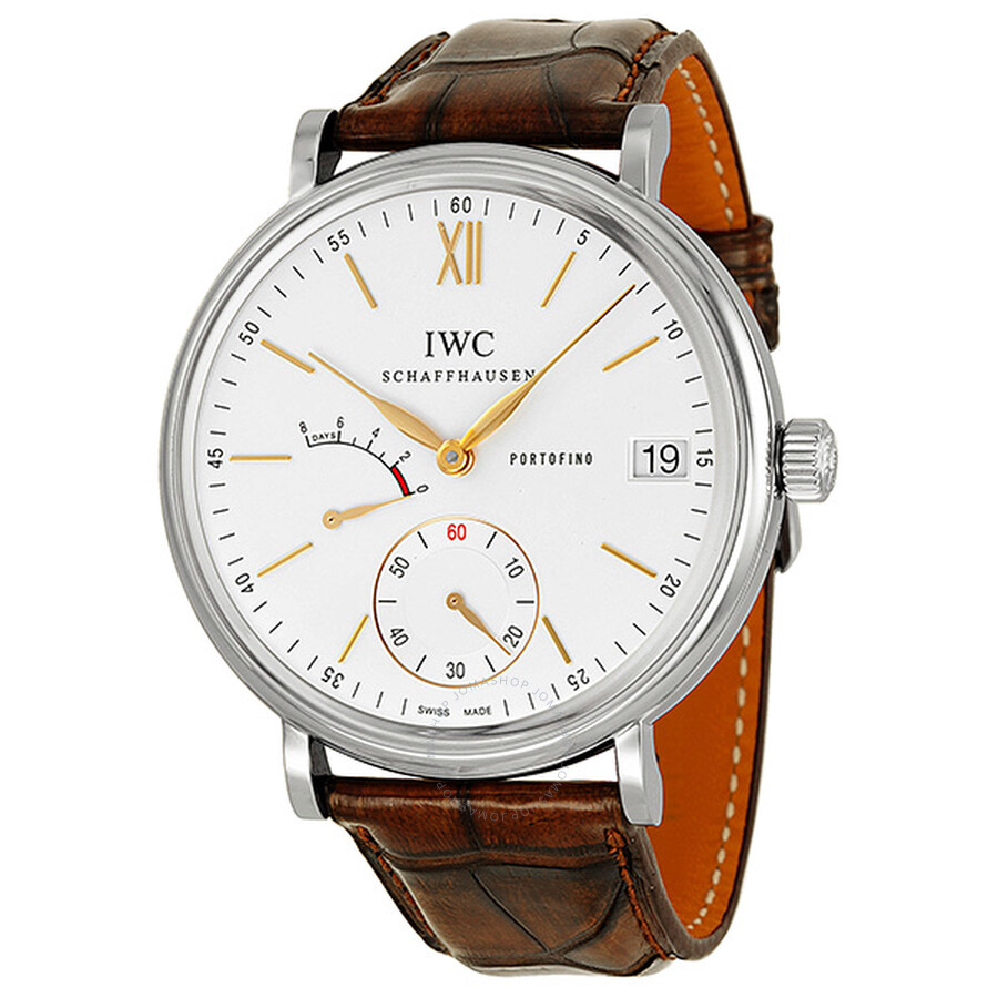 ad81921cb87f0 IWC Portofino Hand Wound Eight Days Silver Dial Men s Watch IW510103 ...