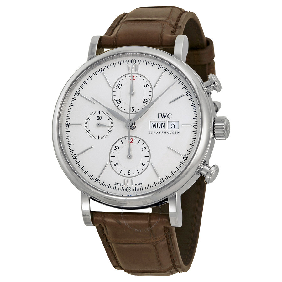 the latest ade72 6dbb8 IWC Portofino Automatic Chronograph Silver Dial Men's Watch IW391007