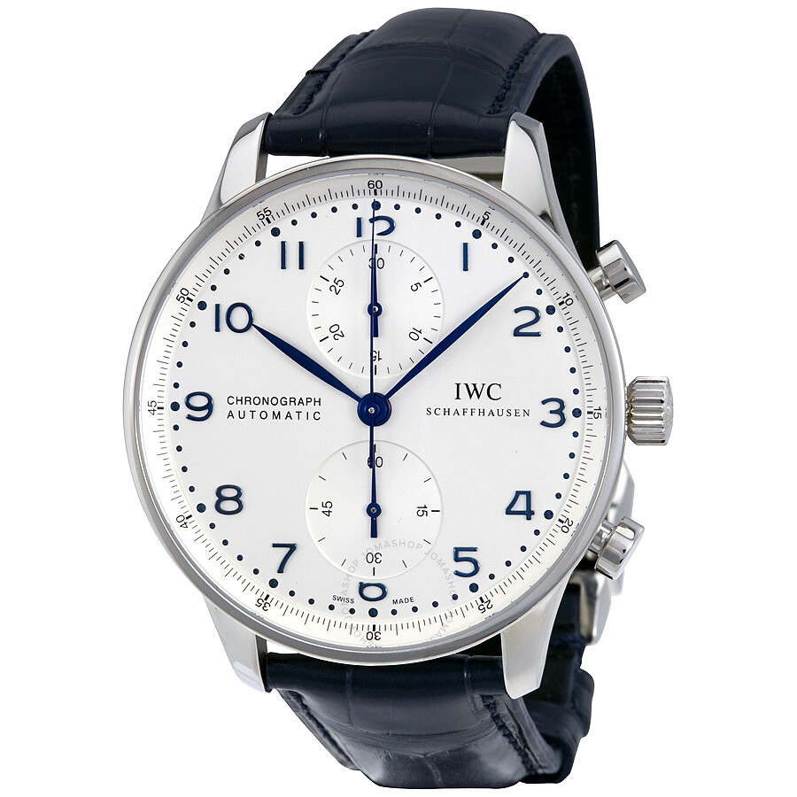 Iwc portuguese chronograph automatic white dial men 39 s watch iw371446 portuguese iwc for Watches for men
