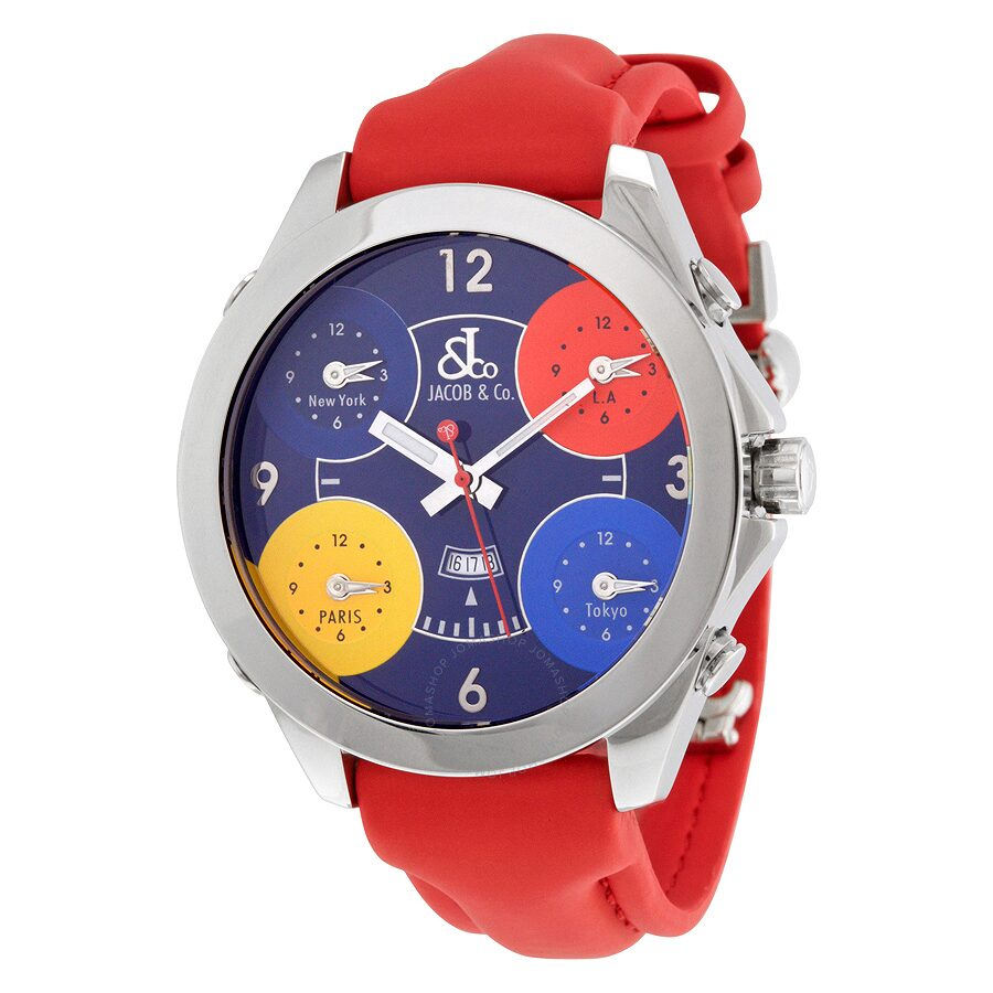 jacob and co five time zone multi color s