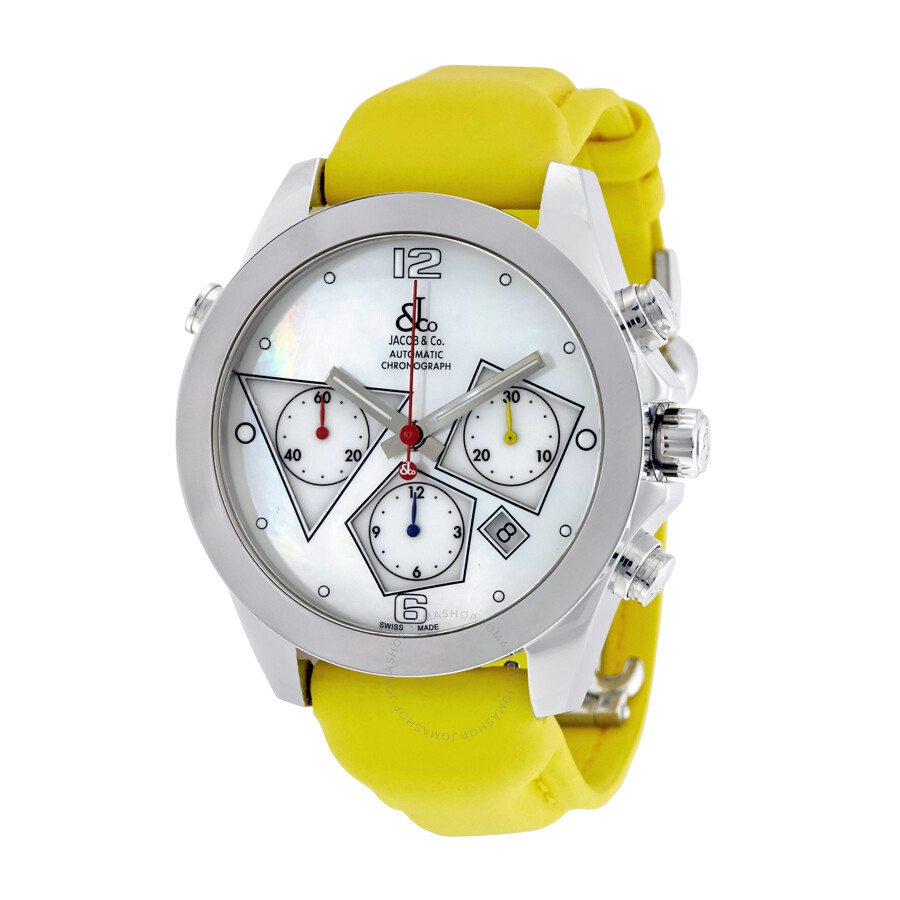 Jacob and co automatic chronograph mother of pearl men 39 s watch acm 6 jacob co watches for Watches jacob and co