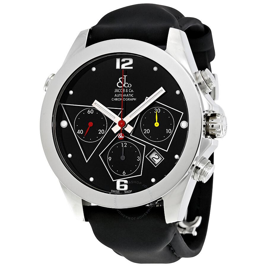 jacob co automatic chronograph black s