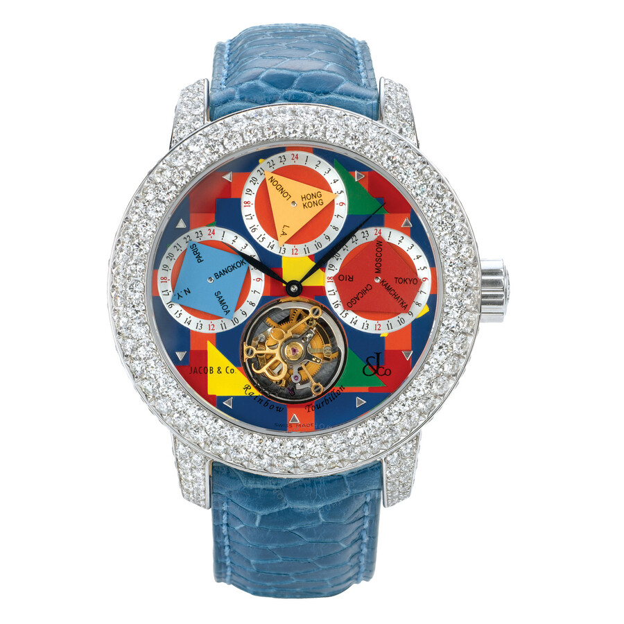 Jacob co rainbow tourbillon r1wgdc the rainbow tourbillion jacob co watches jomashop for Jacob co watches